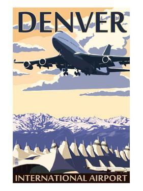 Denver, Colorado - Airport View by Lantern Press