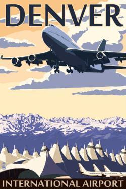 Denver, Colorado - Airport View by Lantern Press