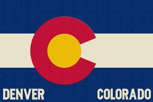 Denver, Colorado - Colorado State Flag by Lantern Press