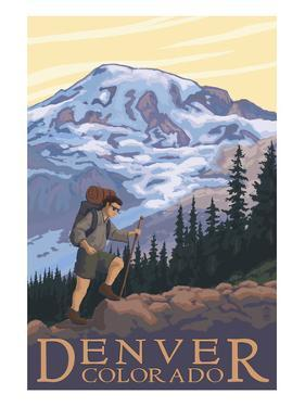 Denver, Colorado - Mountain Hiker by Lantern Press