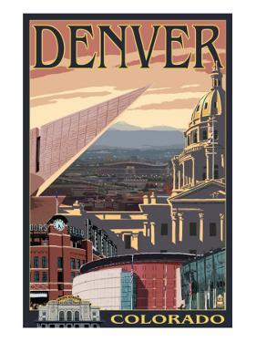 Denver, Colorado - Skyline View by Lantern Press