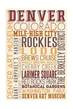 Denver, Colorado - Typography by Lantern Press