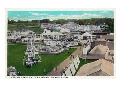 Des Moines, Iowa - State Fair Grounds; Midway Scene