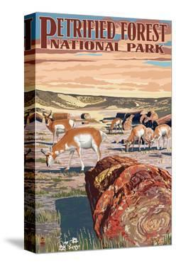 Desert and Antelope - Petrified Forest National Park by Lantern Press