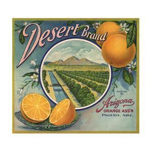 Desert Brand - Phoenix, Arizona - Citrus Crate Label by Lantern Press