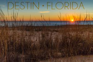 Destin, Florida - Beach and Sunrise by Lantern Press