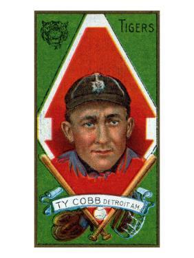 Detroit, MI, Detroit Tigers, Tyrus Raymond Cobb, Baseball Card by Lantern Press