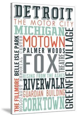 Detroit, Michigan - Typography by Lantern Press