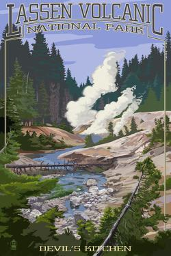 Devil's Kitchen - Lassen Volcanic National Park, CA by Lantern Press
