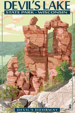 Devil's Lake State Park, Wisconsin - Devil's Doorway by Lantern Press