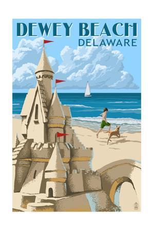 Dewey Beach, Delaware - Sandcastle by Lantern Press