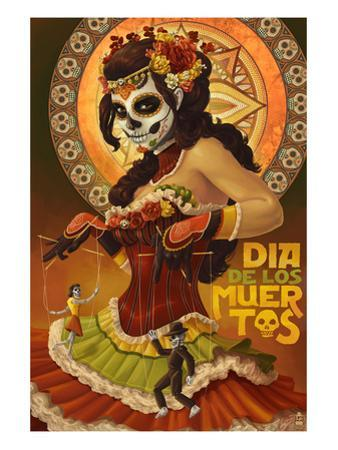 Dia De Los Muertos Marionettes by Lantern Press