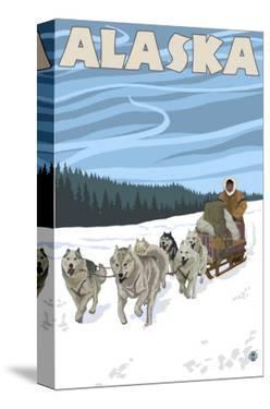 Dogsledding, Alaska by Lantern Press