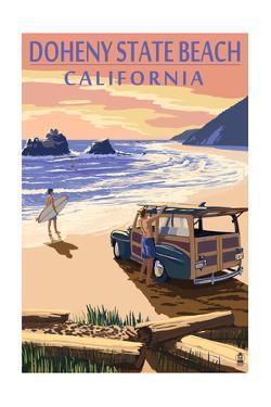 Doheny State Beach, California - Woody on Beach by Lantern Press