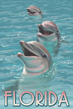 Dolphin Trio - Florida by Lantern Press