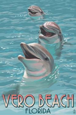 Dolphin Trio - Vero Beach, Florida by Lantern Press
