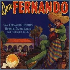 Don Fernando Brand - San Fernando, California - Citrus Crate Label by Lantern Press