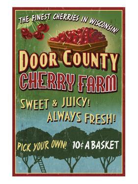 Door County, Wisconsin - Cherry by Lantern Press