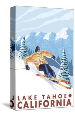 Downhhill Snow Skier, Lake Tahoe, California by Lantern Press