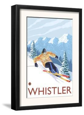 Downhhill Snow Skier, Whistler, BC Canada by Lantern Press