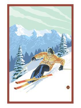 Downhill Skier by Lantern Press
