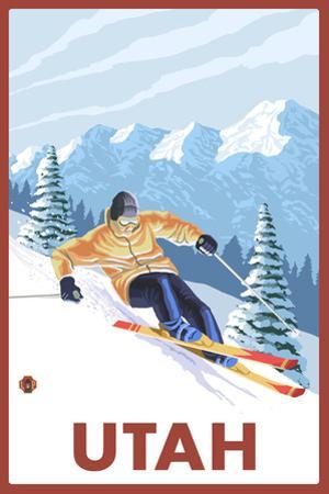 Downhill Snow Skier - Utah