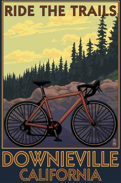 Downieville, California - Bicycle on Trails by Lantern Press