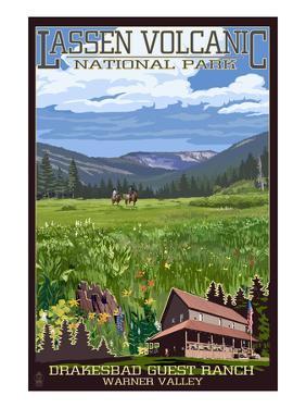 Drakesbad Valley - Lassen Volcanic National Park, CA by Lantern Press