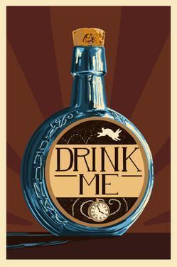 Drink Me Bottle by Lantern Press