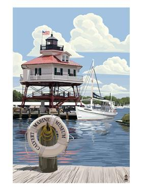 Drum Pt. Light in Summer - Maryland by Lantern Press