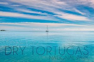 Dry Tortugas National Park, Florida - Sailboat Scene by Lantern Press