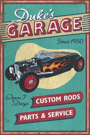 Dukes Garage - Vintage Sign by Lantern Press