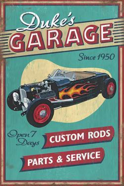 Dukes Garage - Vintage Sign by Lantern Press