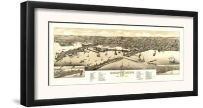 Duluth, Minnesota - Panoramic Map by Lantern Press
