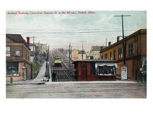 Duluth, Minnesota - View of the Superior St Incline Railway by Lantern Press