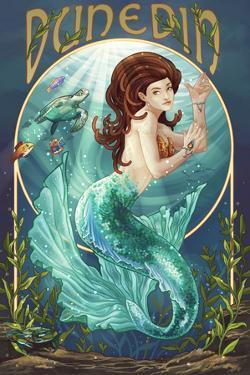 Dunedin, Florida - Mermaid by Lantern Press