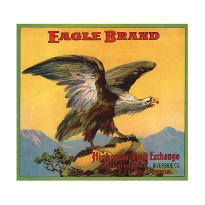 Eagle Brand - Highgrove, California - Citrus Crate Label by Lantern Press