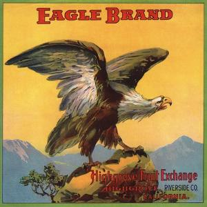 Eagle Brand - Highgrove, California - Citrus Crate Label by Lantern Press