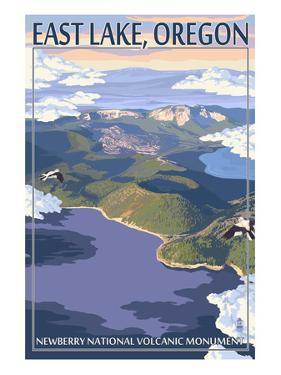 East Lake - Newberry Monument, Oregon by Lantern Press