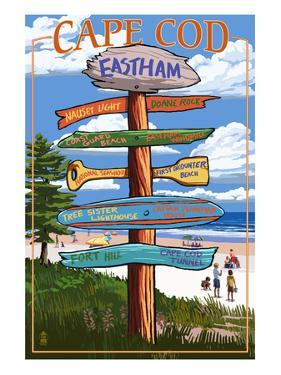 Eastham, Massachusetts Cape Cod - Sign Destinations by Lantern Press
