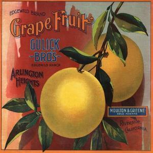 Edgewild Brand - San Dimas, California - Citrus Crate Label by Lantern Press