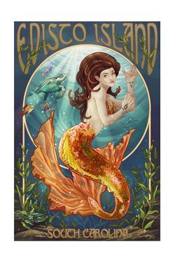 Edisto Island, South Carolina - Mermaid by Lantern Press