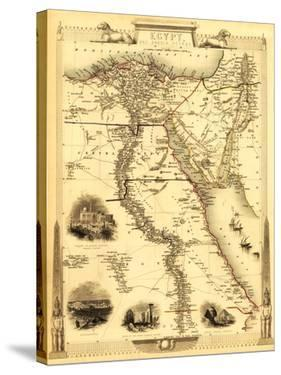 Egypt and Arabia - Panoramic Map by Lantern Press