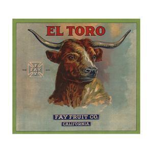 El Toro Brand - California - Citrus Crate Label by Lantern Press