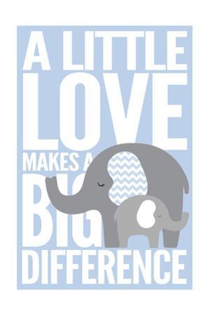 Elephant - Infant Sentiment - Blue by Lantern Press