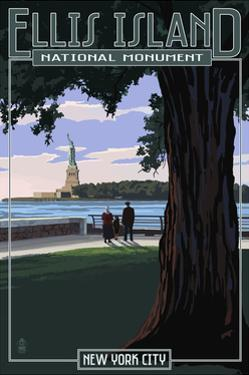 Ellis Island National Monument - New York City - Statue of Liberty by Lantern Press