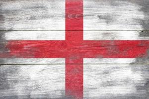 England Country Flag - Barnwood Painting by Lantern Press
