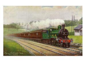 England - Great Northern Railways Flying Scotchman Train Near Hatfield by Lantern Press