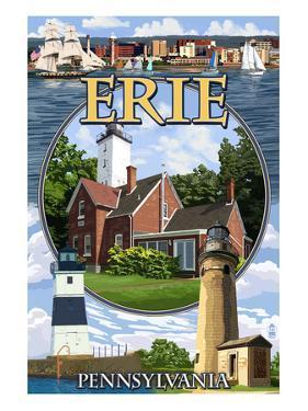 Erie, Pennsylvania - Montage Scenes by Lantern Press