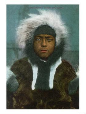 "Eskimo Boy named ""Menadelook"" - Alaska by Lantern Press"